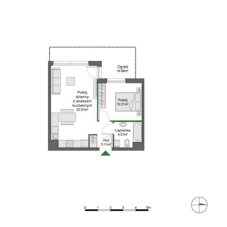 Biotura - rzut mieszkania